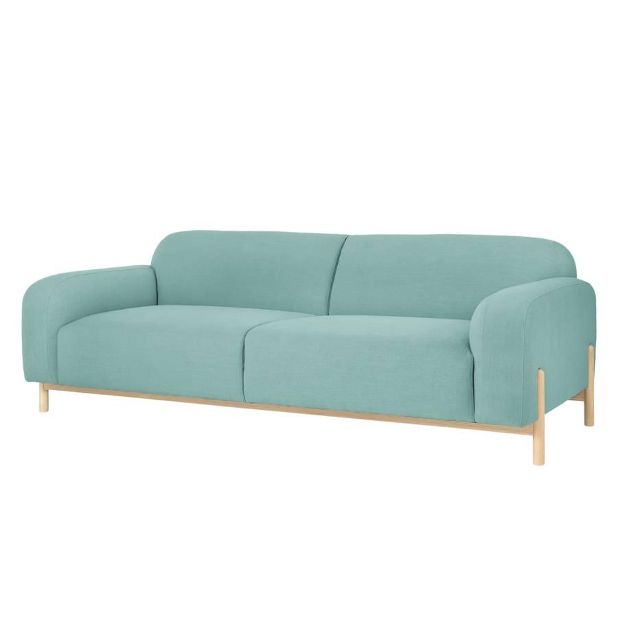sofa melby als 3 sitzer in hellblau jetzt f r zu hause kaufen home24. Black Bedroom Furniture Sets. Home Design Ideas