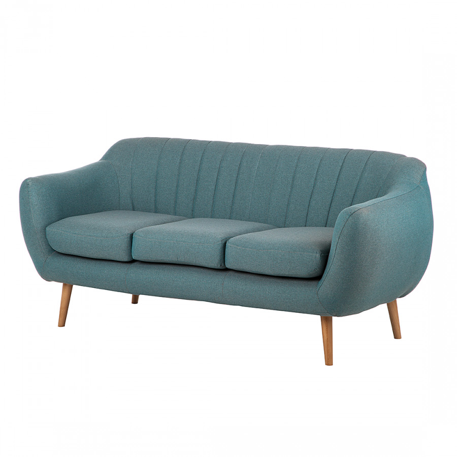 canap molly 3 places tissu bleu gris. Black Bedroom Furniture Sets. Home Design Ideas