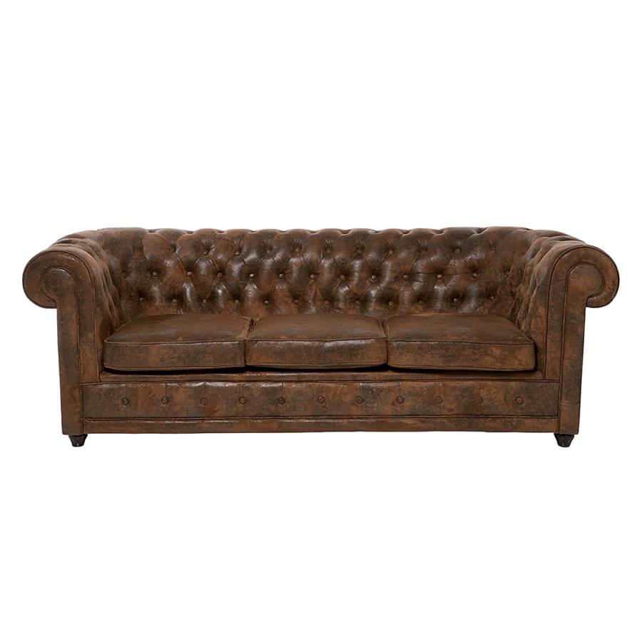 kare design chesterfield sofa f r ein klassisches heim home24. Black Bedroom Furniture Sets. Home Design Ideas