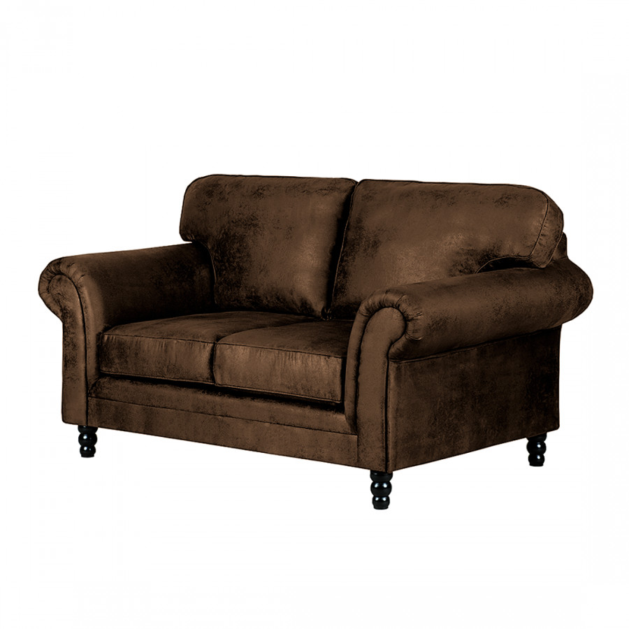 canap sombrero 2 places aspect vieux cuir marron fonc. Black Bedroom Furniture Sets. Home Design Ideas