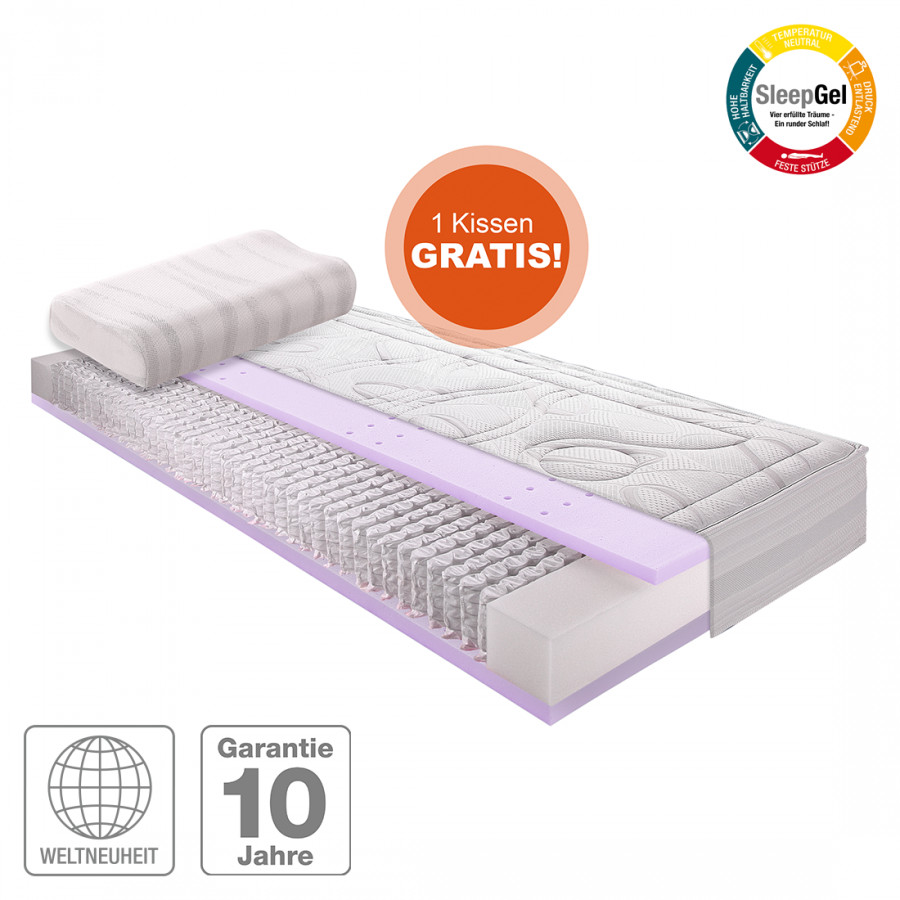 sparset sleep gel 4 inklusive nackenst tzkissen. Black Bedroom Furniture Sets. Home Design Ideas