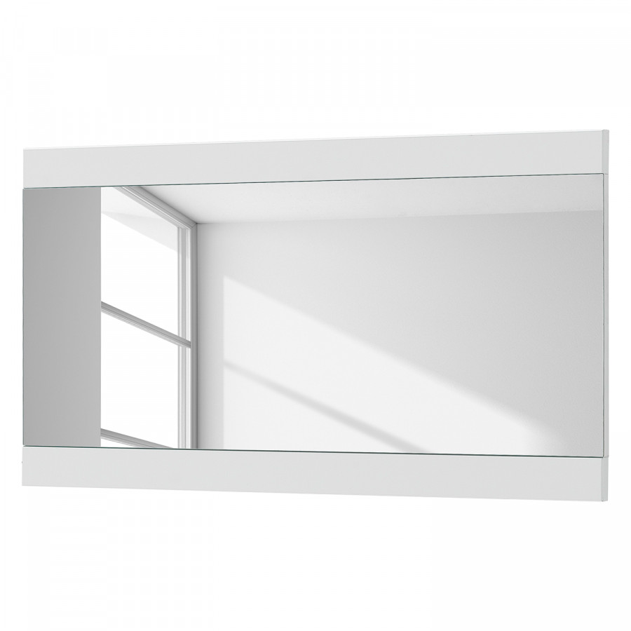 Miroir arco ii blanc brillant for Miroir laque blanc brillant