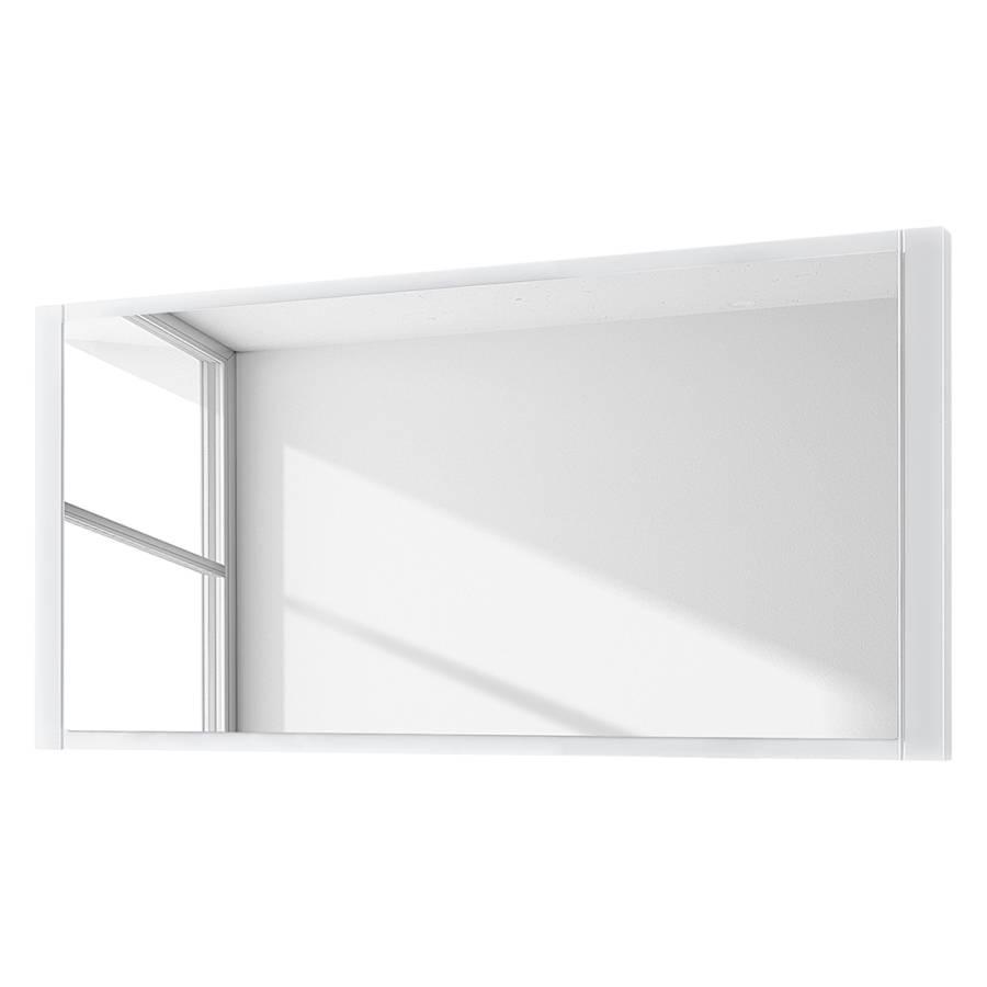 Miroir lightnes blanc brillant for Miroir laque blanc brillant