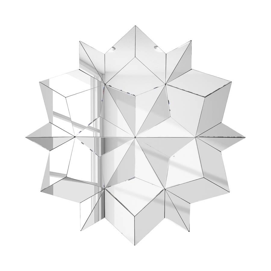 miroir origami star. Black Bedroom Furniture Sets. Home Design Ideas