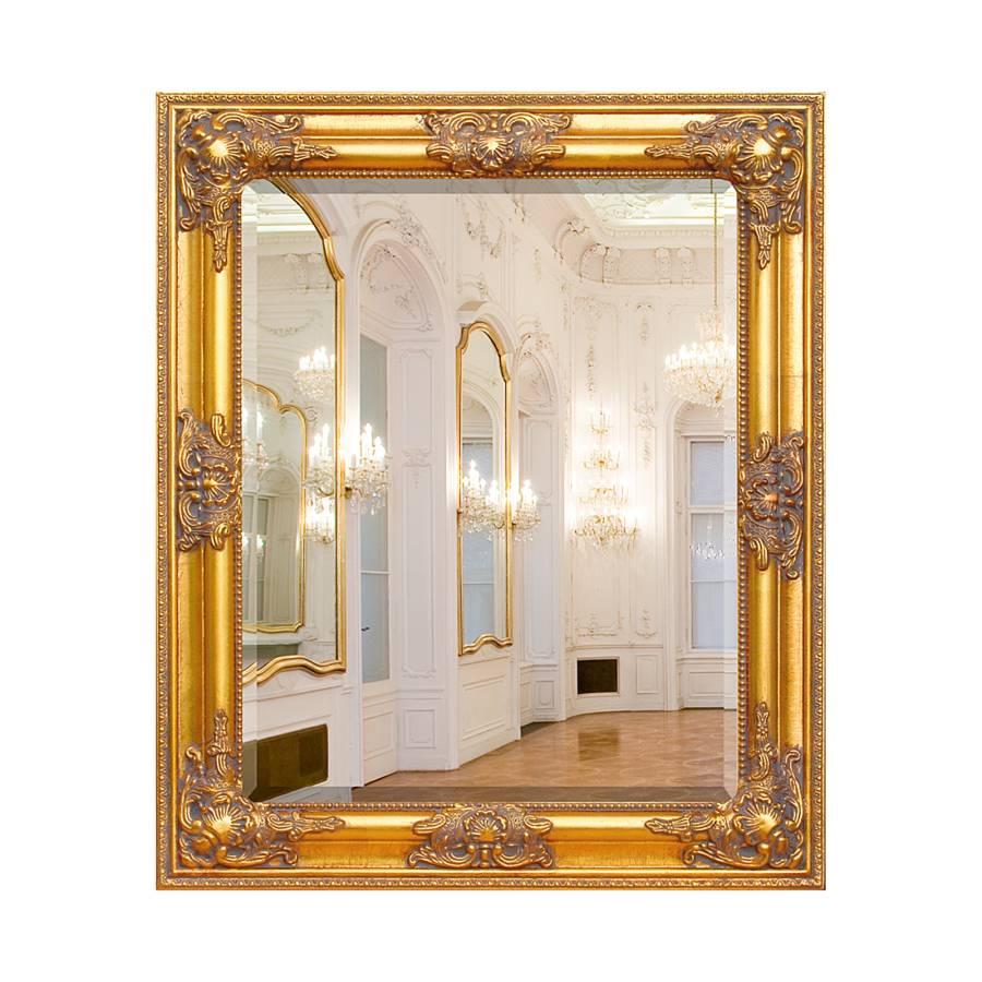 Spiegel varela x deels massief paulowniahout - Home24 spiegel ...