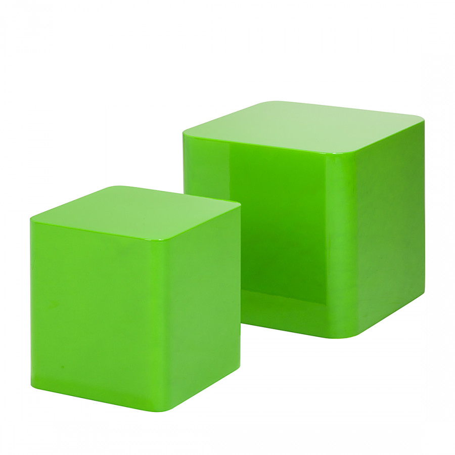 Tavolino quadrato set da 2 verde lucido home24 for Beistelltisch quadrato