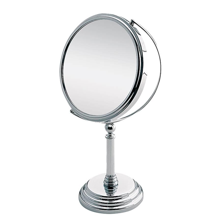 Miroir sur pied margot chrome avec grossissement x5 for Miroir avec pied