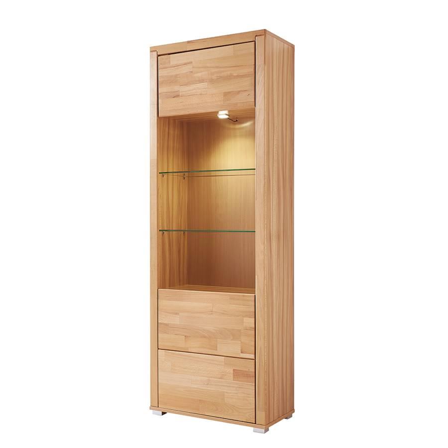 standvitrine valmiera inkl beleuchtung kernbuche teilmassiv home24. Black Bedroom Furniture Sets. Home Design Ideas
