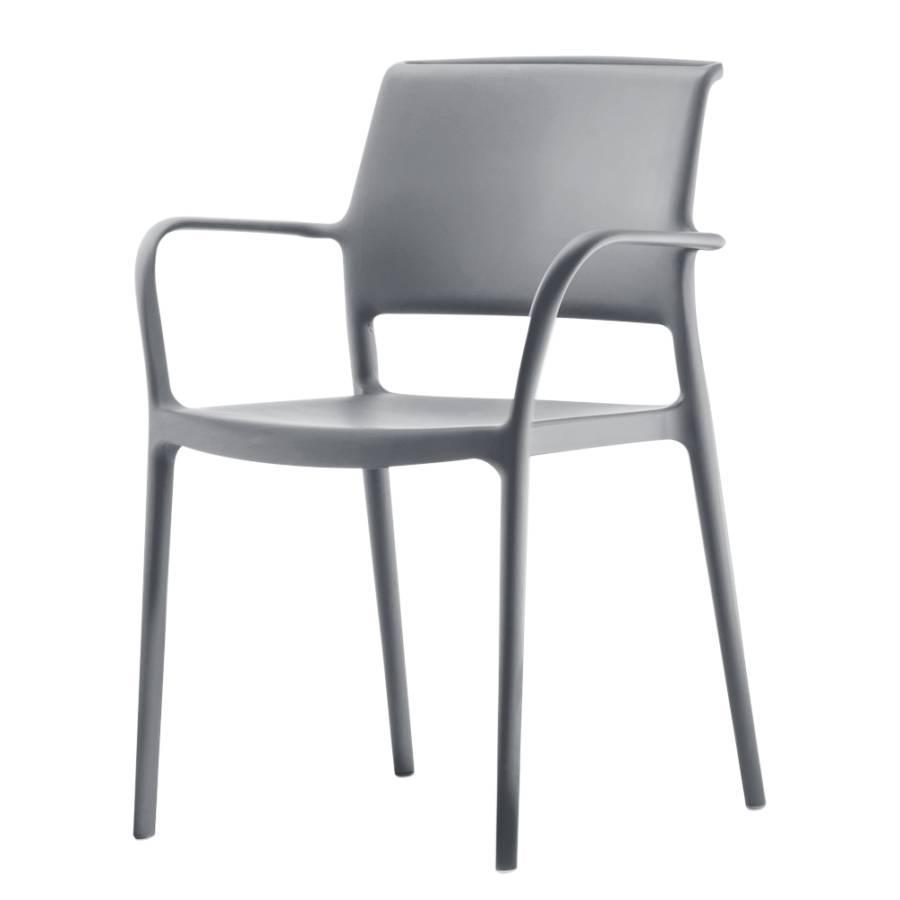 stapelsessel ara 4er set kunststoff silbergrau home24. Black Bedroom Furniture Sets. Home Design Ideas