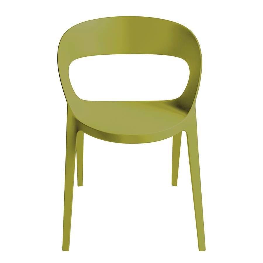 Stapelstuhl carla 2er set olivgr n home24 for Designer stapelstuhl