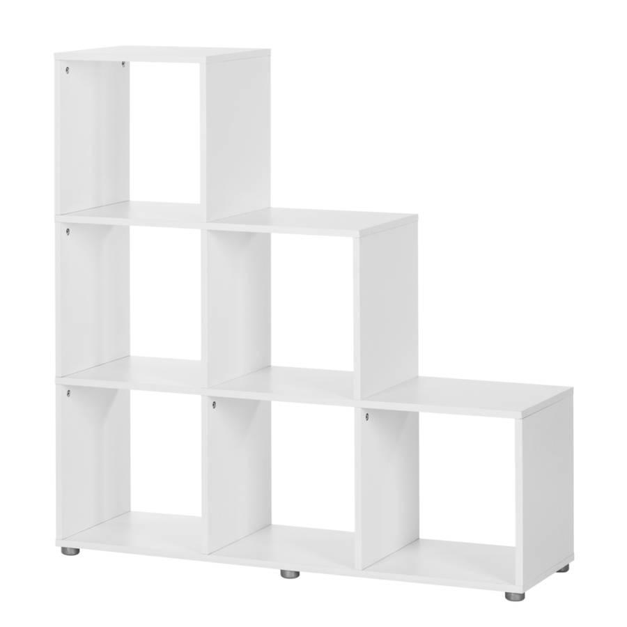 stufenregal stepper i wei home24. Black Bedroom Furniture Sets. Home Design Ideas