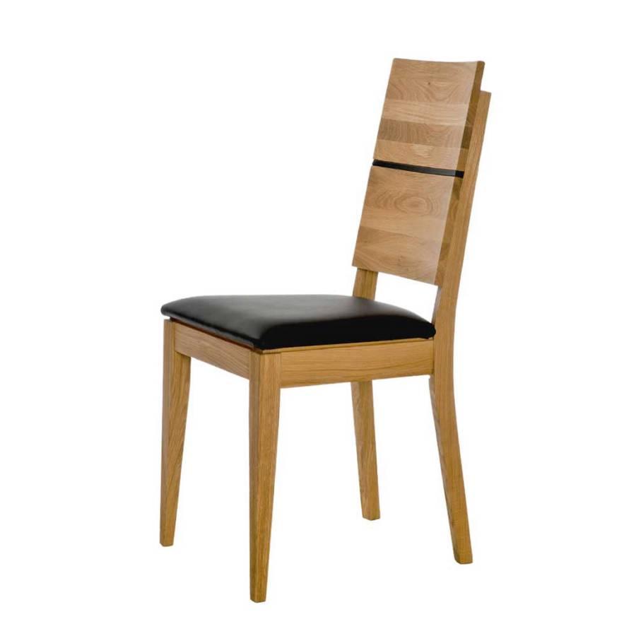 stuhl manadoz 2er set wildeiche massiv kunstleder home24. Black Bedroom Furniture Sets. Home Design Ideas