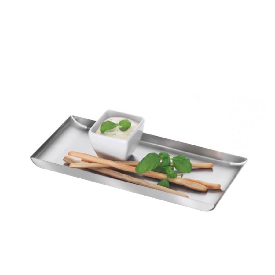 Dienblad trayan lengte 30cm roestvrij staal - Dressoir roestvrij tailor ...