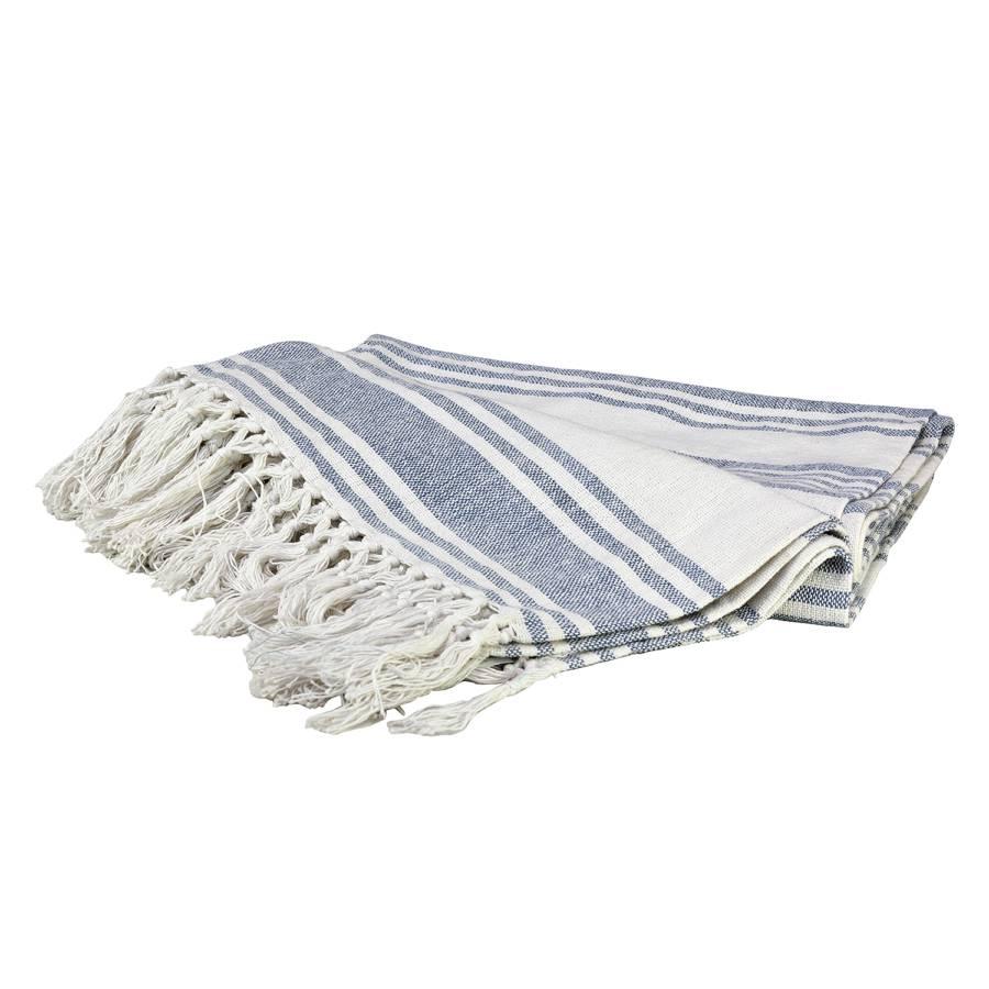 couvre lit moxi ii tissu en coton blanc bleu clair. Black Bedroom Furniture Sets. Home Design Ideas