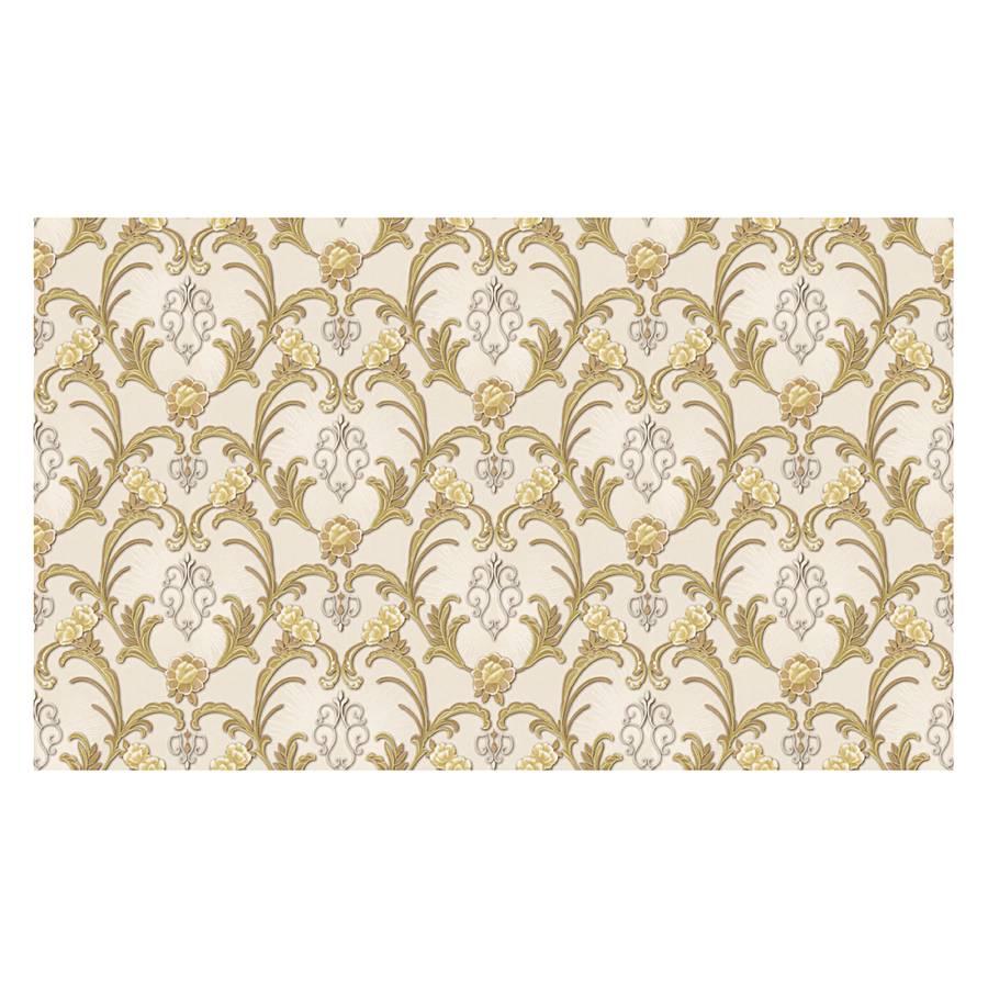 Tapete hermitage elfenbein hellelfenbein silberfarben for Tapeten goldfarben