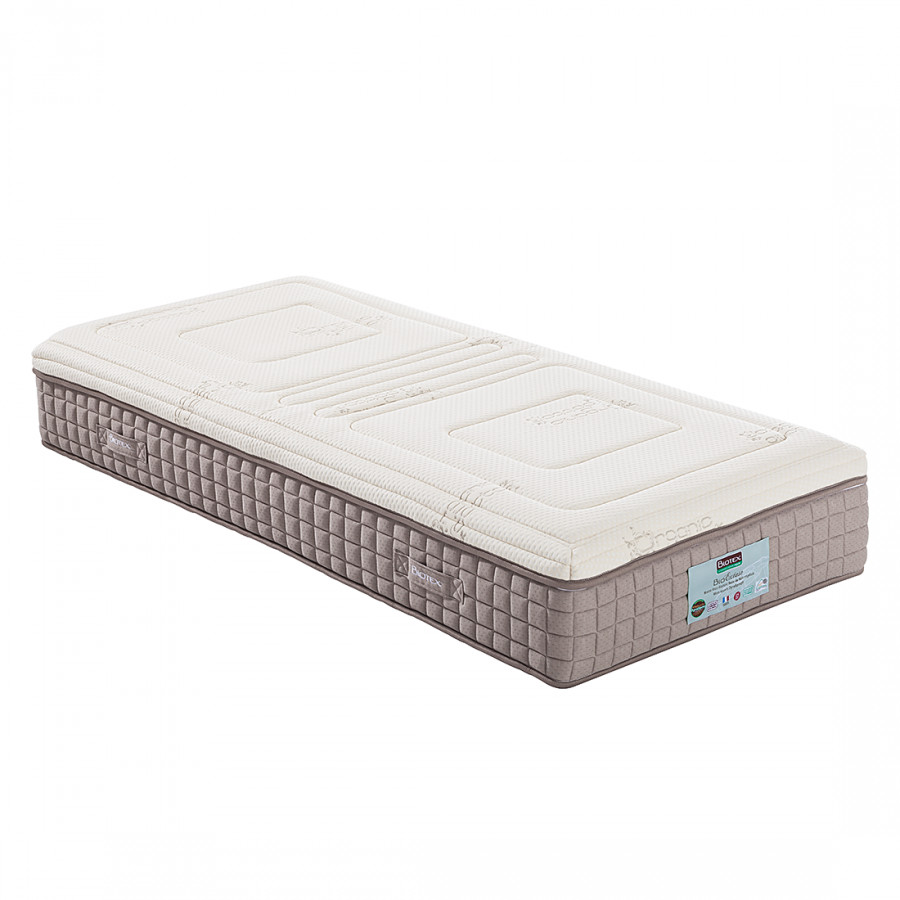 matelas confort ressorts ensach s bio extase avec surmatelas sensitiv. Black Bedroom Furniture Sets. Home Design Ideas