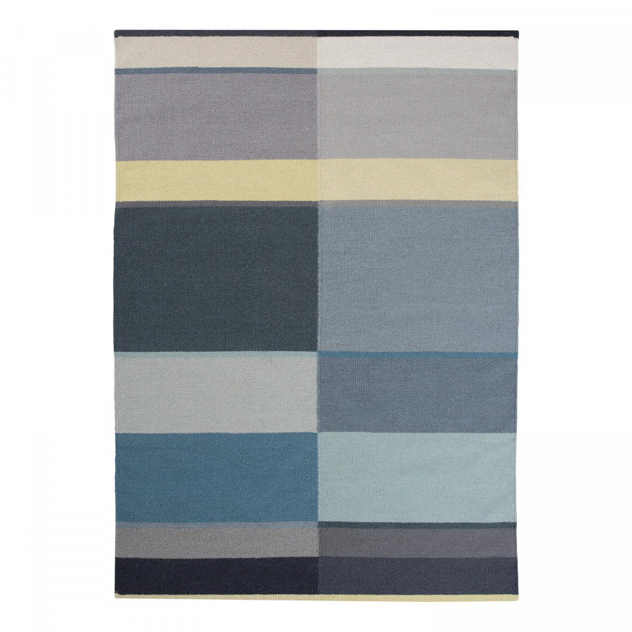 Teppich leus wolle blau grau home at