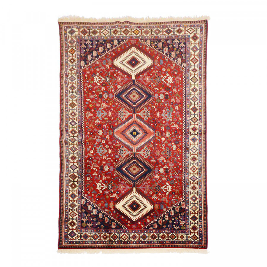 tapis persan yalameh felder rouge. Black Bedroom Furniture Sets. Home Design Ideas