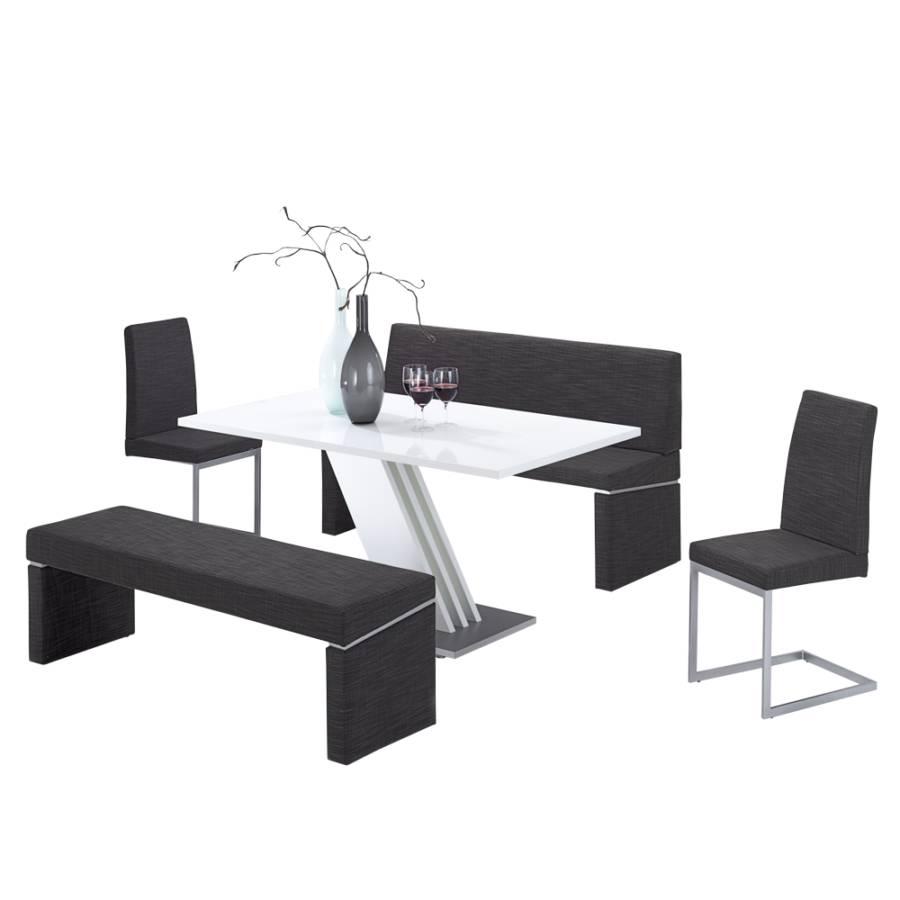 tischgruppe nastoria 5 teilig grau wei hochglanz home24. Black Bedroom Furniture Sets. Home Design Ideas