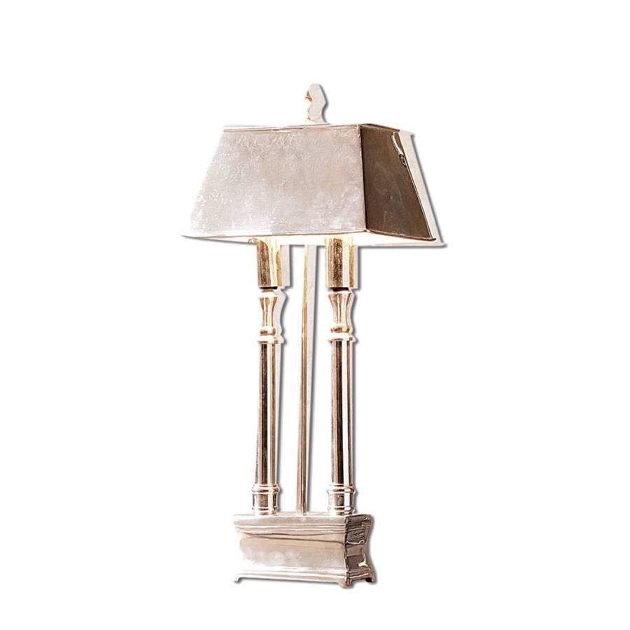 tischlampe pantin messing mit antiksilber finish silber. Black Bedroom Furniture Sets. Home Design Ideas