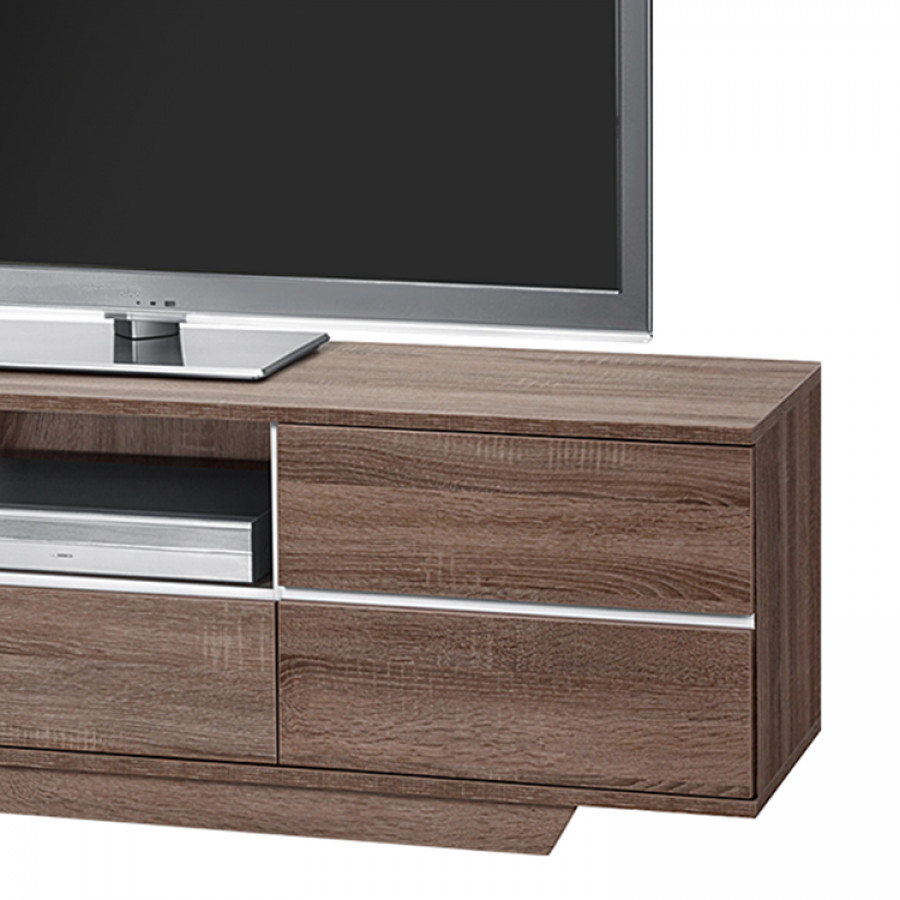 tv bank amieka ii eiche tr ffel s gerau dekor online. Black Bedroom Furniture Sets. Home Design Ideas