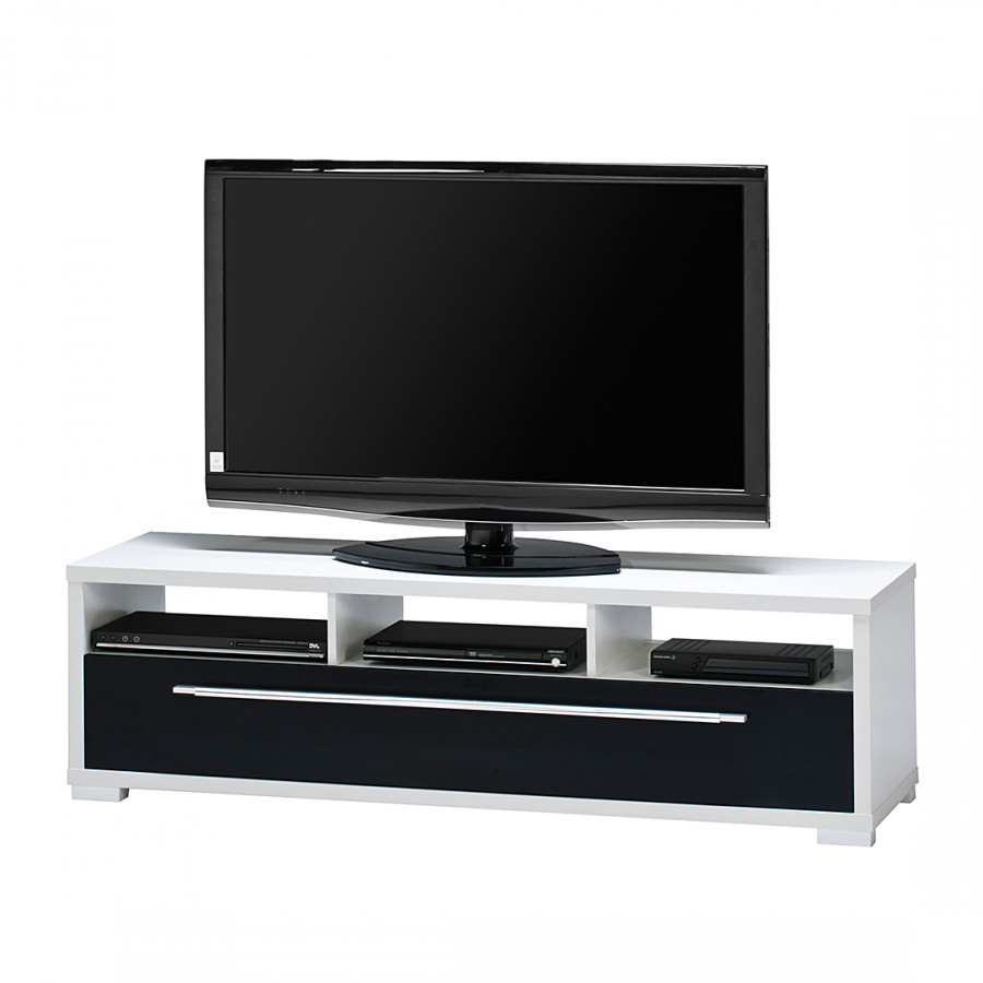 tv bank mayla wei schwarz hochglanz home24. Black Bedroom Furniture Sets. Home Design Ideas
