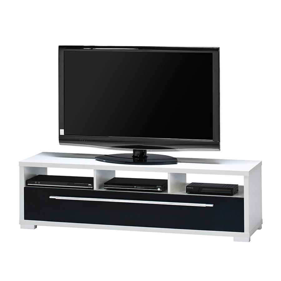 tv bank mayla wei schwarz hochglanz home24. Black Bedroom Furniture Sets. Home Design Ideas