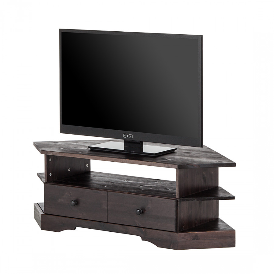 commode d 39 angle tv ivalo pin massif. Black Bedroom Furniture Sets. Home Design Ideas
