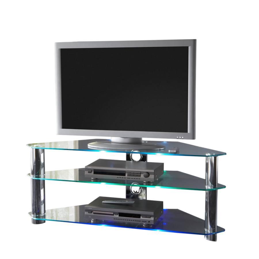 Meuble tv d 39 angle space verre for Meuble d angle en verre