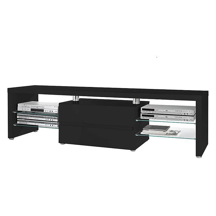 tv lowboard dalles hochglanz schwarz home24. Black Bedroom Furniture Sets. Home Design Ideas