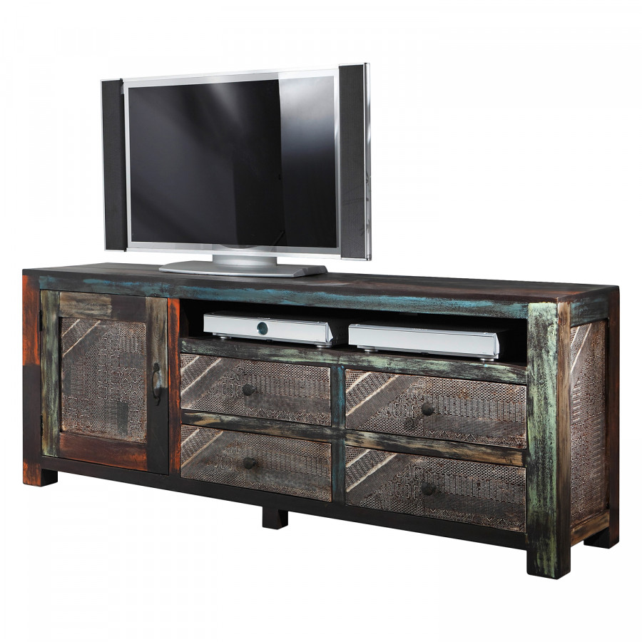 meuble tv goa iii acacia manguier partiellement massif multicolore. Black Bedroom Furniture Sets. Home Design Ideas