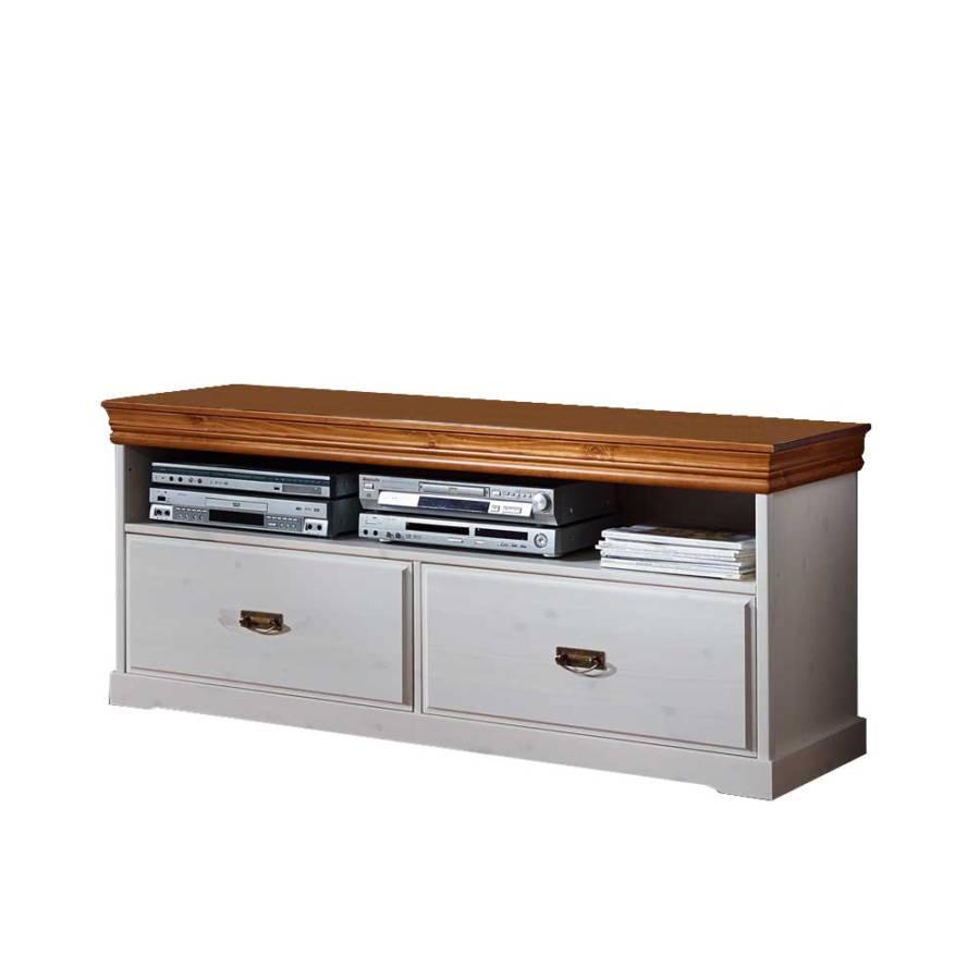 tv lowboard locondra wei honigfarben home24. Black Bedroom Furniture Sets. Home Design Ideas