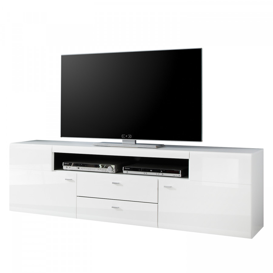 meuble tv matane blanc brillant noir. Black Bedroom Furniture Sets. Home Design Ideas