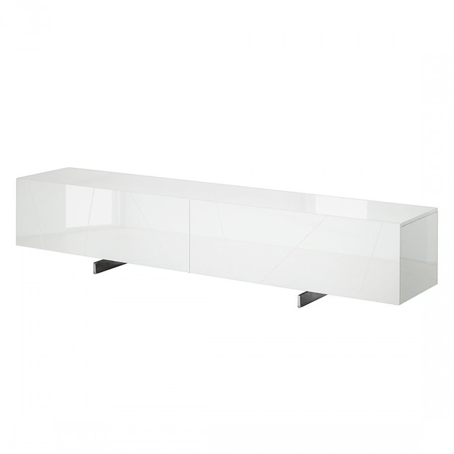 Tv meubel miami hoogglans wit for Tv dressoir hoogglans wit