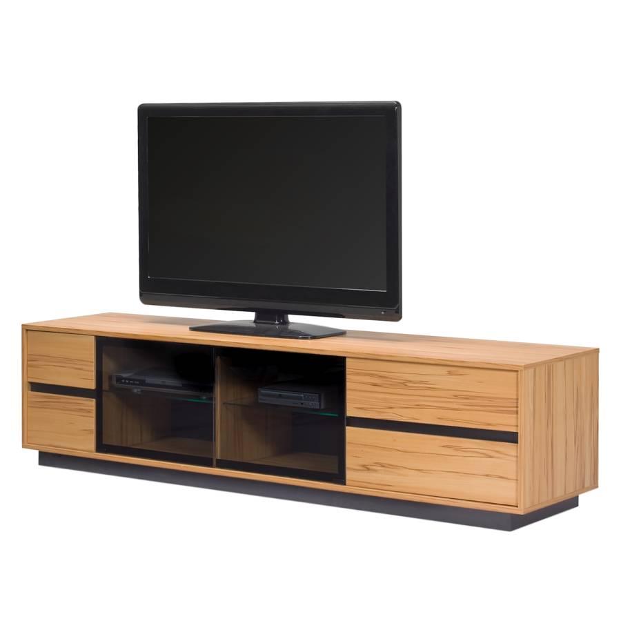 tv lowboard ml 285 inkl beleuchtung kernbuche dekor home24. Black Bedroom Furniture Sets. Home Design Ideas