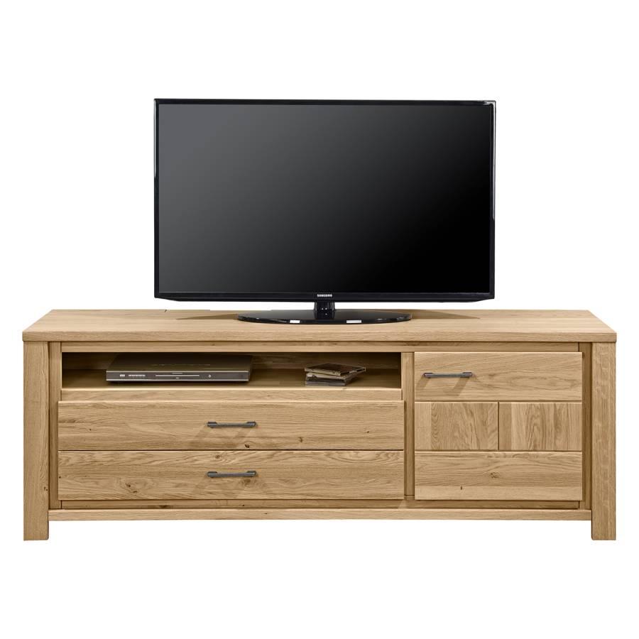 tv lowboard oakland i eiche massiv home24. Black Bedroom Furniture Sets. Home Design Ideas