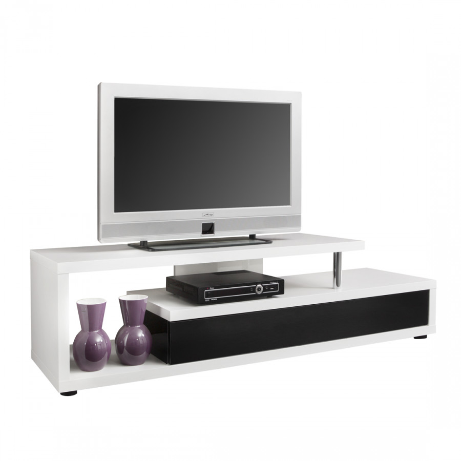 tv lowboard wasco ii hochglanz wei lackiert home24. Black Bedroom Furniture Sets. Home Design Ideas