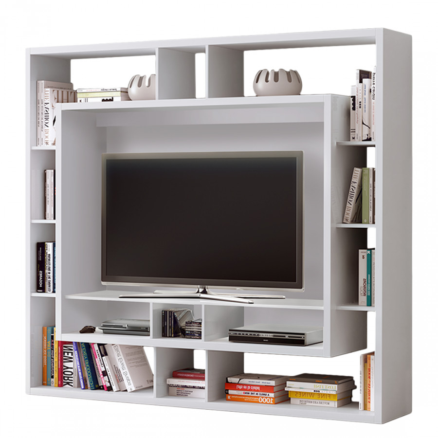 tv medienwand easy cremewei home24. Black Bedroom Furniture Sets. Home Design Ideas