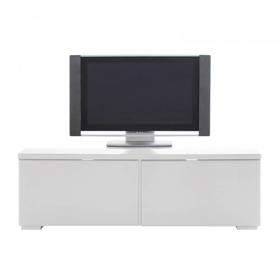 Meuble tv bond blanc brillant for Meuble tv 120 cm blanc