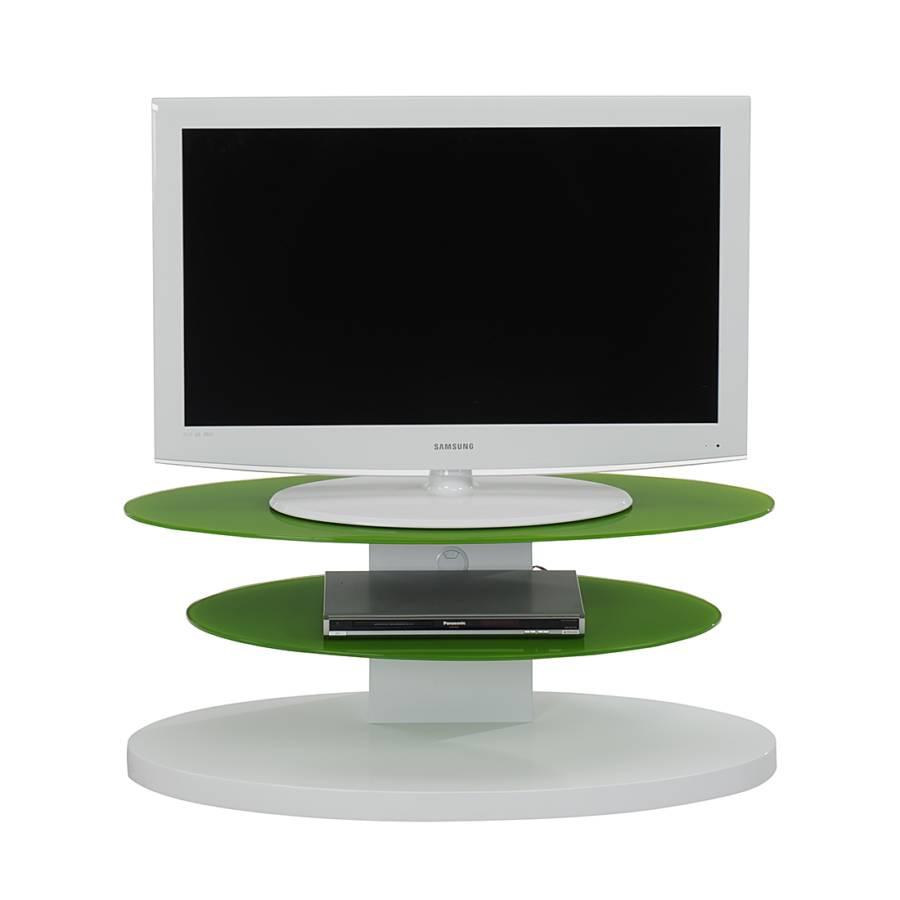 Meuble tv cuuba mojo 300 blanc brillant verre vert for Meuble tv 300