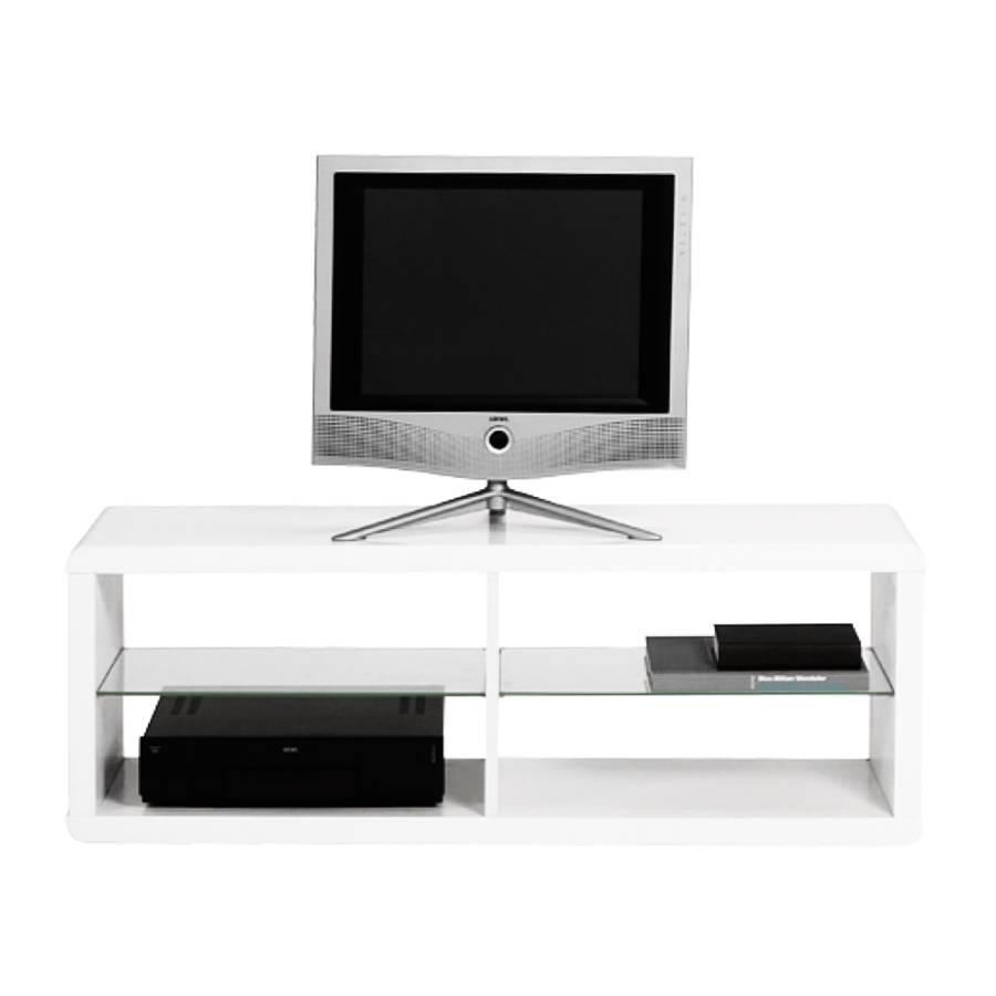 tv regal leonardo wei hochglanz mit 2 glaseinlegeb den. Black Bedroom Furniture Sets. Home Design Ideas