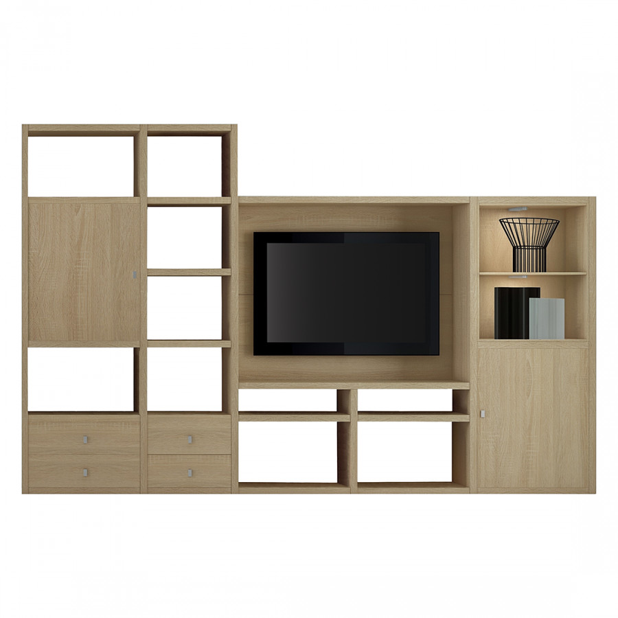 tv wand von loftscape bei home24 kaufen home24. Black Bedroom Furniture Sets. Home Design Ideas