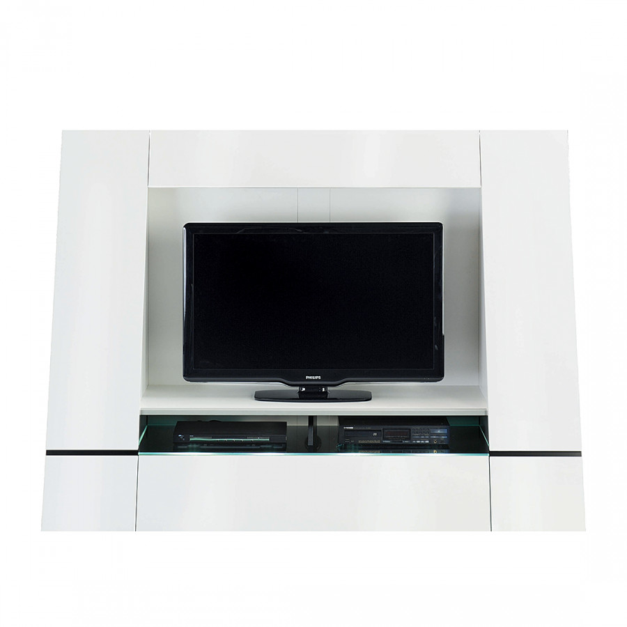 tv wand cuuba luxor 45 hochglanz wei home24. Black Bedroom Furniture Sets. Home Design Ideas