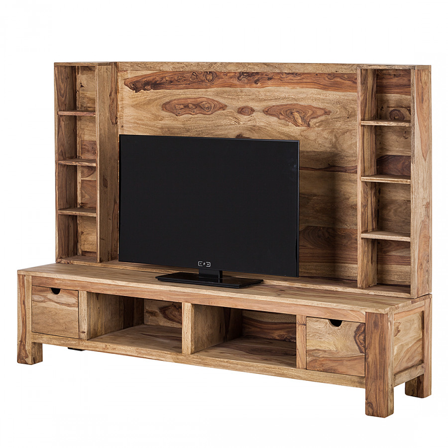 mobile da parete porta tv yoga palissandro indiano massello naturale home24. Black Bedroom Furniture Sets. Home Design Ideas