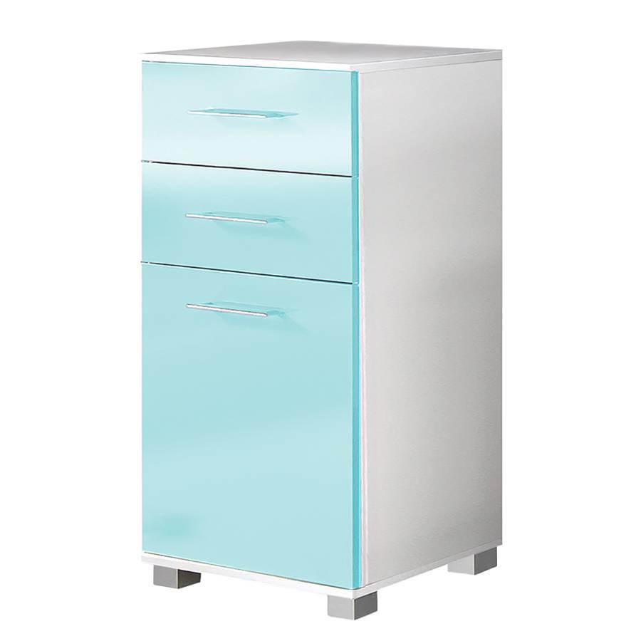 armoire basse amy aqua blanc. Black Bedroom Furniture Sets. Home Design Ideas