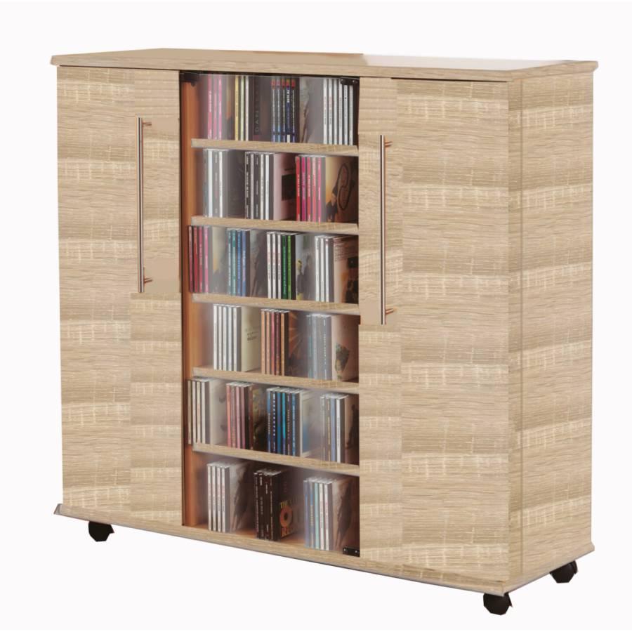 vcm cd dvd sideboard luxor schrank m bel sonoma eiche. Black Bedroom Furniture Sets. Home Design Ideas