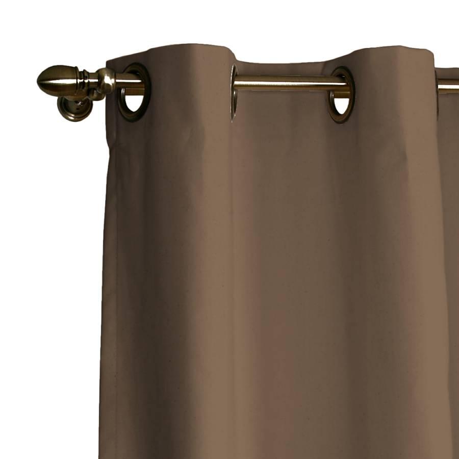 verdunklungs vorhang mit sen hellbraun home24. Black Bedroom Furniture Sets. Home Design Ideas