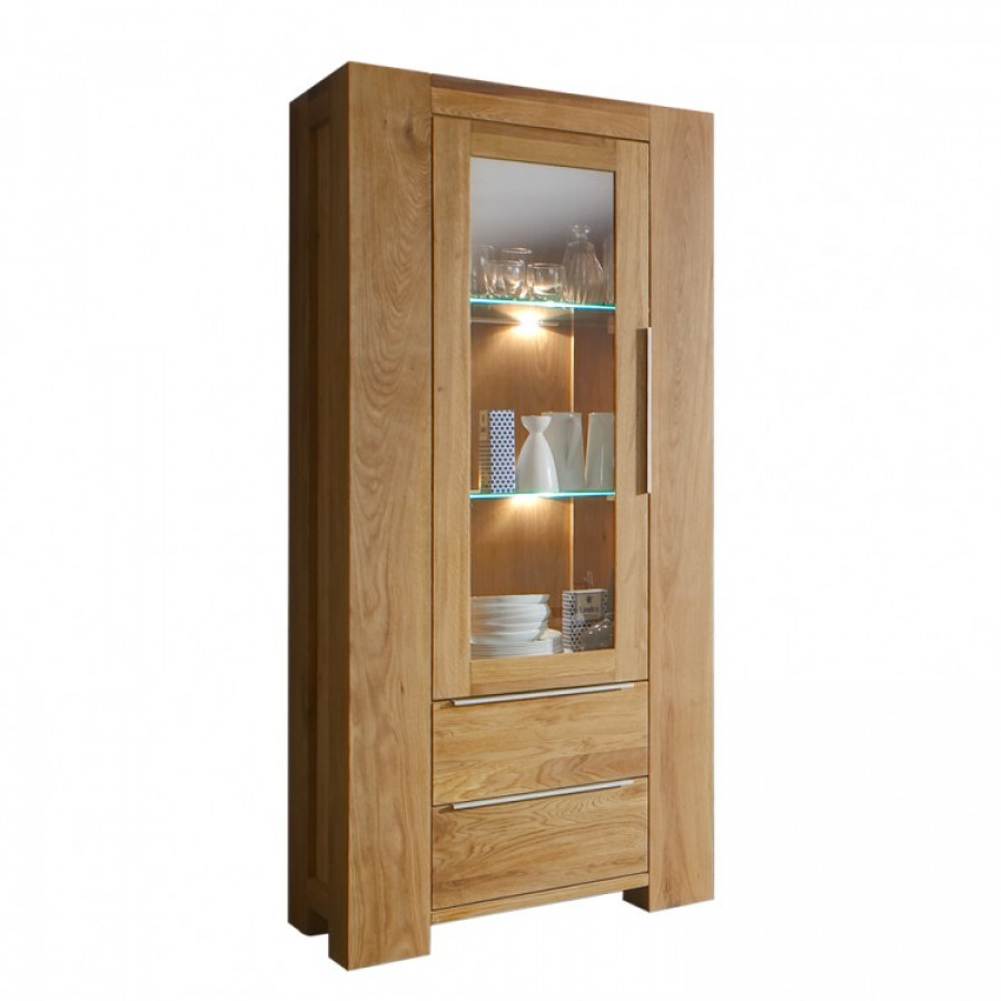 vitrine san sebastian eiche massiv home24. Black Bedroom Furniture Sets. Home Design Ideas
