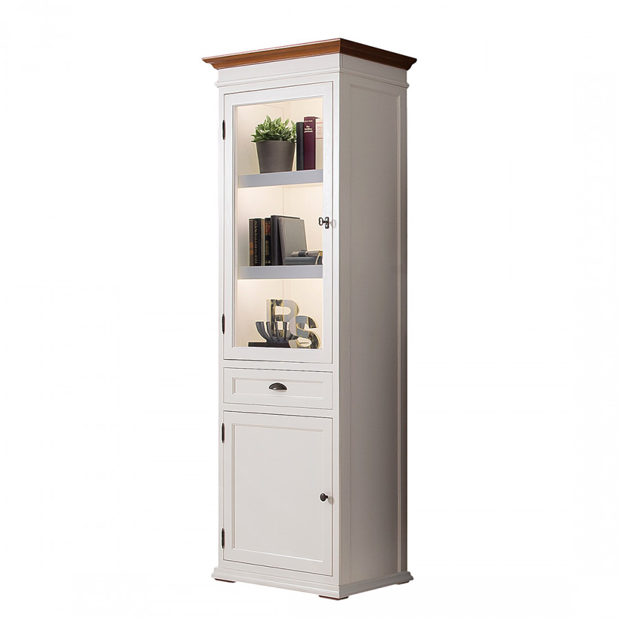 vitrine vivienne ii fichte massiv home24. Black Bedroom Furniture Sets. Home Design Ideas