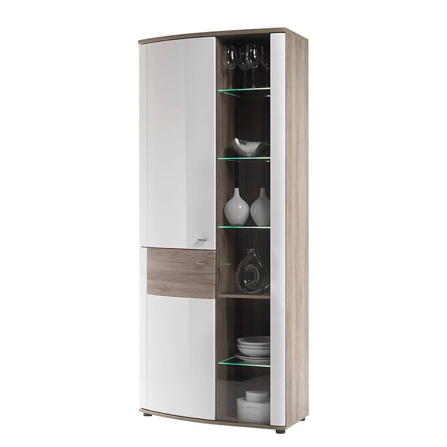 vitrinenschrank wei hochglanz artownit for. Black Bedroom Furniture Sets. Home Design Ideas